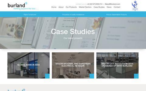 Screenshot of Case Studies Page burland.com - Case Studies Custom Post Archive - Burland - captured Oct. 11, 2017