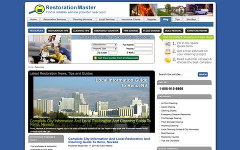 Screenshot of Blog restorationmasterfinder.com - Cleaning and Restoration Guides and Tips by RestorationMaster Finder - captured Sept. 19, 2014