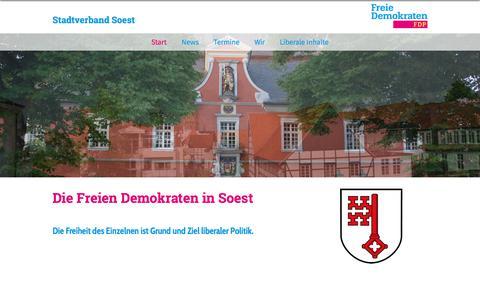Screenshot of Home Page fdp-soest.de - FDP Soest | Start - captured June 8, 2018