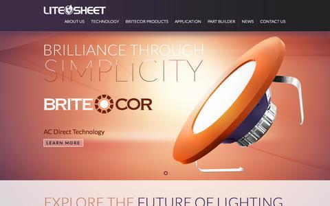 Screenshot of Home Page lstus.com - Litesheet   AC Direct Lighting Technology - captured Oct. 2, 2014