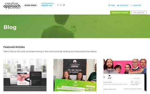 Screenshot of Press Page mycreativeapproach.com - Blog | Creative Approach Print & Design - captured Nov. 16, 2019