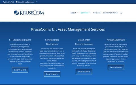 Screenshot of Services Page krusecom.com - Services | KruseCom, Inc. - captured Sept. 20, 2018