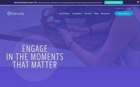 Cross-Channel Marketing Automation | Kahuna