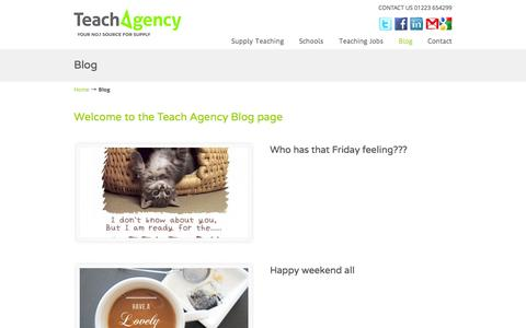 Screenshot of Blog teachagency.co.uk - Teach Agency Blog page - - captured Oct. 26, 2014