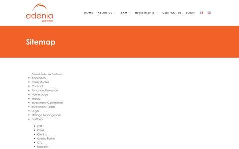 Screenshot of Site Map Page adenia.com - Sitemap – Adenia - captured Oct. 7, 2017