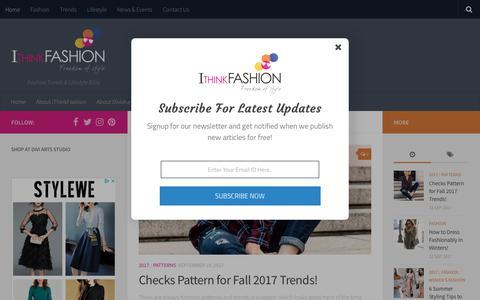 Screenshot of Home Page ithinkfashion.com - i Think Fashion - Fashion Trends & Lifestyle Blog - captured Sept. 20, 2018