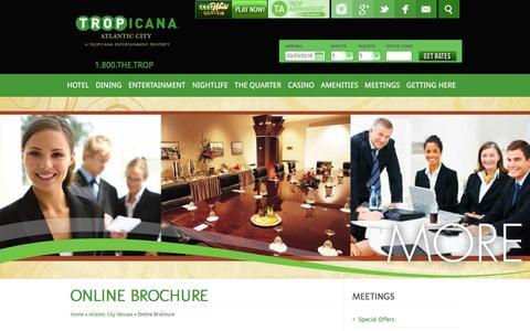 Screenshot of tropicana.net - Tropicana Casino | Meeting Atlantic City | Brochure - captured March 20, 2016