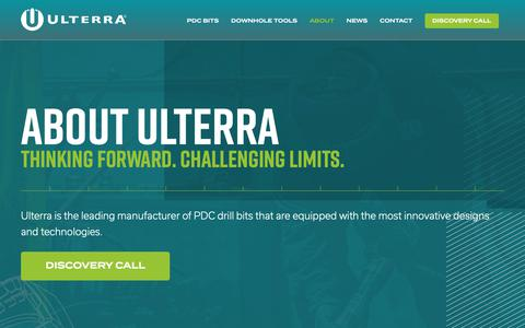 Screenshot of About Page ulterra.com - About Ulterra - captured Oct. 18, 2018