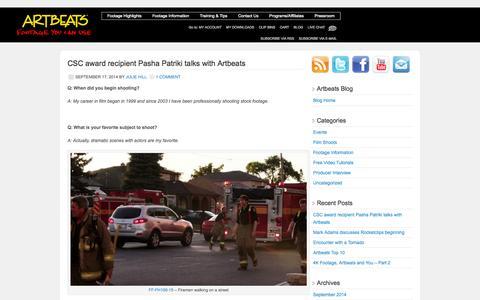 Screenshot of Blog artbeats.com - Artbeats Blog | A blog for the Creative Professional - captured Sept. 22, 2014
