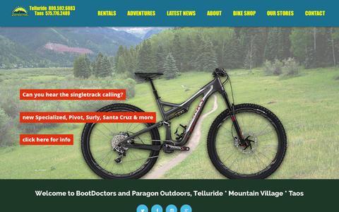 Screenshot of Home Page bootdoctors.com - BootDoctors: Ski, Snowboard & Bike Shop | - captured Sept. 18, 2015