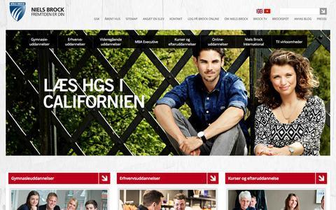 Screenshot of Home Page brock.dk - Niels Brock - captured Sept. 19, 2014