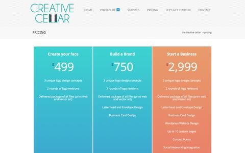 Screenshot of Pricing Page thecreativecellar.com - Pricing - The Creative Cellar - captured May 11, 2017