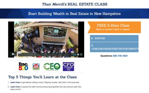 Screenshot of Landing Page fortunebuilders.com - Than Merrill's Real Estate Class - captured Aug. 31, 2017