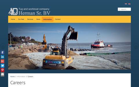 Screenshot of Jobs Page hermansr.com - Careers - Herman Senior b.v - captured Dec. 3, 2016