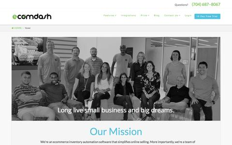 Screenshot of Team Page ecomdash.com - Inventory Management Team that SupportsOnline Sellers - captured Oct. 11, 2016