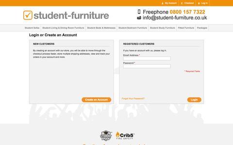 Screenshot of Login Page student-furniture.co.uk - Customer Login - captured Oct. 8, 2014