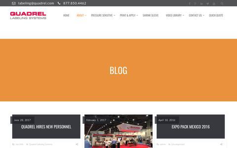 Screenshot of Blog quadrel.com - Quadrel - captured July 31, 2017