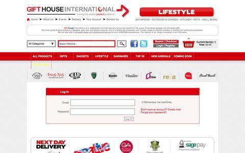 Screenshot of Login Page gifthouseinternational.com - Gift House International - captured Jan. 14, 2016