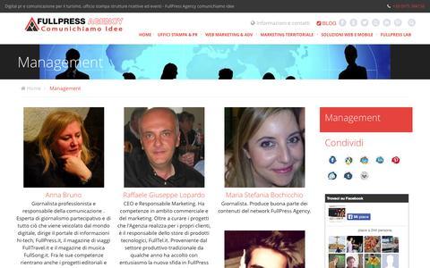 Screenshot of Team Page fullpressagency.it - Management - Lo staff | FullPress Agency - captured Oct. 6, 2014