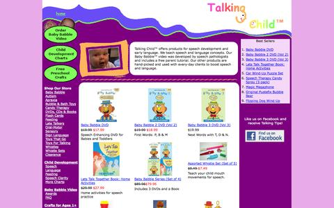 Screenshot of Home Page talkingchild.com - Baby Babble Speech and Language Video by Talking Child, LLC - captured Oct. 7, 2014