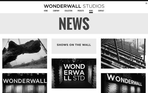 Screenshot of Press Page wonderwallstudios.com - News Archive - Wonderwall Studios - captured Jan. 2, 2016