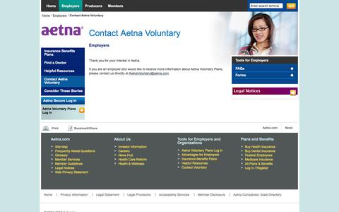 Employers Contact Aetna Voluntary Plans