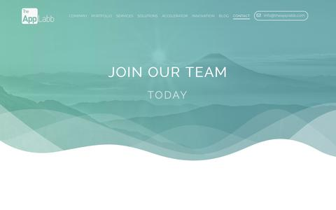 Screenshot of Jobs Page theapplabb.com - TheAppLabb works with many leading companies, providing unique opportunities for you to be a part of something that has a profound impact. Explore our open positions and apply online to join TheAppLabb team - captured Oct. 19, 2018