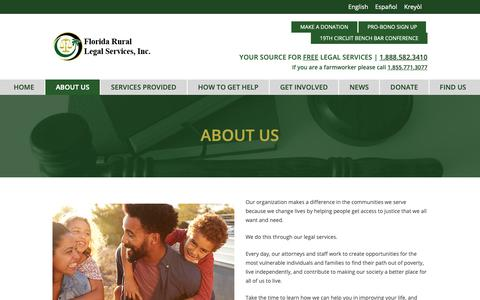 Screenshot of About Page frls.org - About Us – Florida Rural Legal Services - captured Oct. 10, 2018