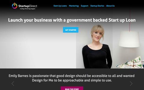 Screenshot of Login Page startupdirect.org - Startup Direct - Start Up New Business Loans - captured Oct. 29, 2014