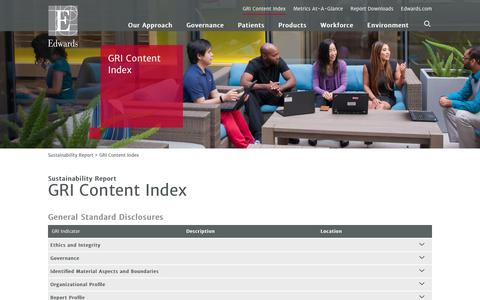 Edwards 2016 Sustainability Report   GRI Content Index