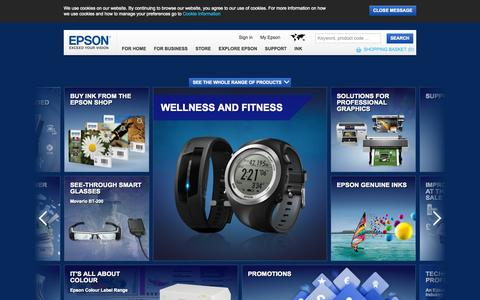 Screenshot of Home Page epson.co.uk - Welcome to Epson United Kingdom - captured Sept. 19, 2014