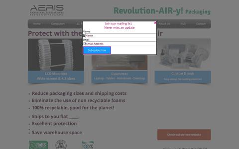 Screenshot of Home Page air-bagger.com - airbag packaging, air packaging for computers, lcd monitors, desktop - captured Sept. 30, 2017
