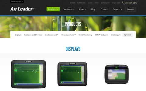 Screenshot of Products Page agleader.com - Products | Ag Leader Technology - captured Sept. 19, 2014