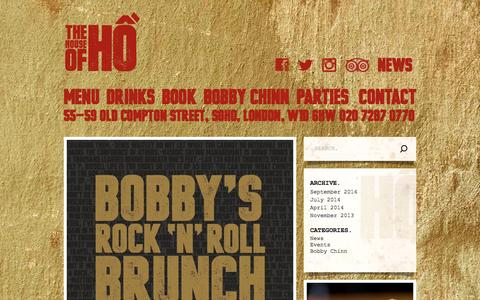 Screenshot of Blog houseofho.co.uk - House of Ho |   News - captured Oct. 26, 2014