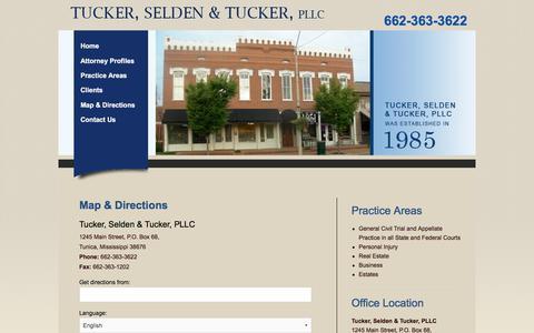 Screenshot of Maps & Directions Page tuckerselden.com - Tunica Law Firm, Tucker, Selden & Tucker, PLLC | Maps & Directions - captured Nov. 3, 2017