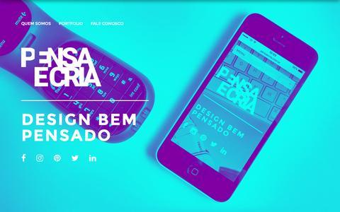 Screenshot of Home Page pensaecria.com.br - Pensa e Cria   Estúdio de Design Gráfico - captured July 12, 2016