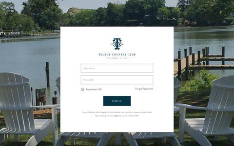 Screenshot of Login Page talbotcc.com - Member Login - Talbot Country Club - captured Oct. 18, 2018