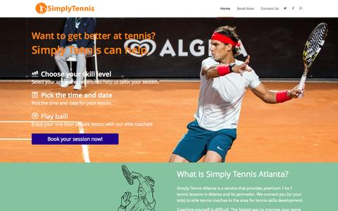 Screenshot of Home Page simplytennisatlanta.com - Private Tennis Lessons in Atlanta - Simply Tennis Atlanta - captured Sept. 30, 2014