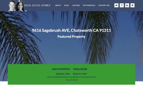 Screenshot of Home Page idealsocalhomes.com - Ideal SoCal Homes - By Sam Pompeo - captured Sept. 30, 2014