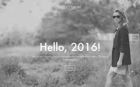 Screenshot of Home Page siccouture.com - S.I.C. Couture - captured Feb. 2, 2016