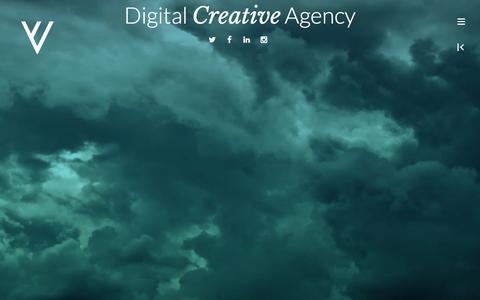 Screenshot of Home Page vertigovisual.com - vertigo visual | Imagine visualize create - captured Dec. 19, 2016
