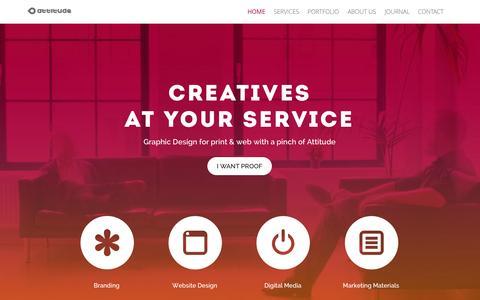 Screenshot of Home Page attitudedesign.co.uk - Nottingham Graphic Design - Attitude Design - captured Sept. 23, 2014