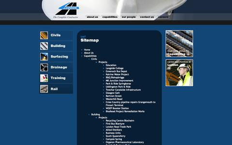 Screenshot of Site Map Page luddon.co.uk - Sitemap :: Luddon Construction - captured Oct. 3, 2014