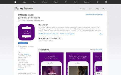 littleBits Invent on the App Store