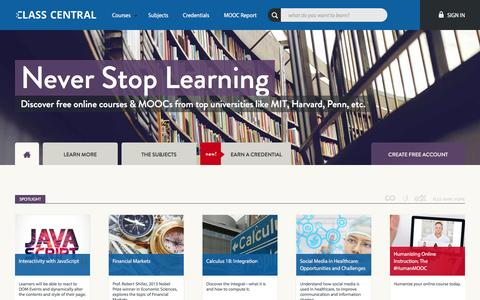 Discover Free Online Courses & MOOCs Ľ Class Central