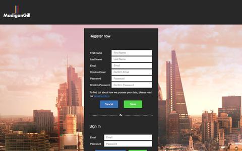 Screenshot of Login Page madigangill.co.uk - Madigan Gill Application Form - captured July 27, 2018