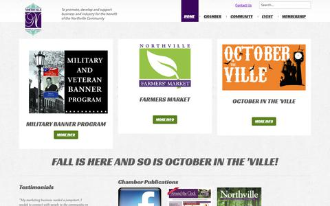 Screenshot of Home Page Privacy Page northville.org - Home - captured Oct. 18, 2018