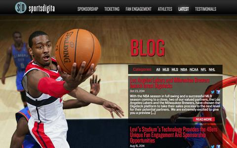 Screenshot of Blog sportsdigita.com - Latest | Sportsdigita | Interactive Sports Agency - captured Oct. 29, 2014