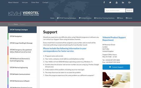 Screenshot of Support Page videotel.com - Support | Videotel - captured Sept. 20, 2018