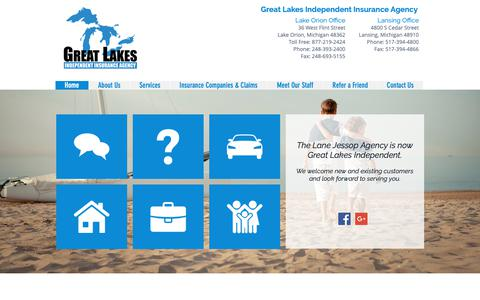 Screenshot of Home Page greatlakesindependent.com - Great Lakes Independent Insurance Agency   Michigan Insurance Quotes - captured Sept. 30, 2018